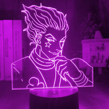 LED Night Light Lamp Hunter X Hunter Anime Hisoka Smirk Touch Control 3D 7 Color