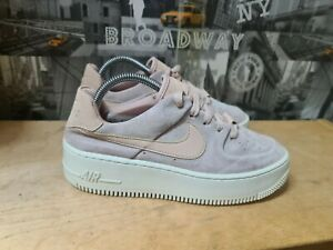 Nike Air Force 1 Nude Pink Suede Platform Trainers Size UK 5 EU 38.5