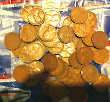 """LINCOLN WHEAT CENT ROLL MIXED ALL """"S"""" MINTS FORTIES & FIFTIES FREE SHIPPING"""