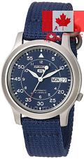 Seiko Men s SNK807 Seiko 5 Automatic Blue Canvas Strap Watch