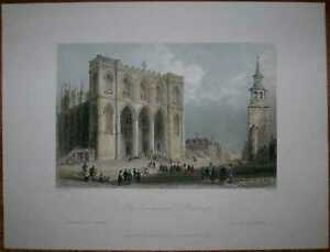 1840 Bartlett print CANADA: CATHEDRAL IN MONTREAL, QUEBEC (#57)