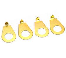(4) Gold Guitar/Bass Knob Pointers for Mini Metric Pots KP-MG