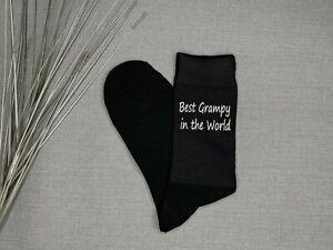 Best Grampy Gift Vinyl Printed Socks Grandad Novelty Gift Idea Father's Day Gift