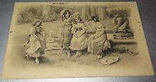 6374:Spielende Kinder,1909, Berlin/Oberursel -  Karte, Postkarte, Carte Postale.