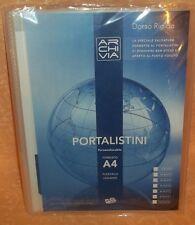 PORTA DOCUMENTI  PORTALISTINI FORMATO A4  A 80 FOGLI INTERNI cod.9801