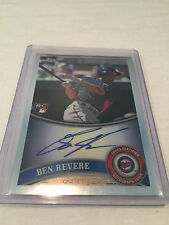 2011 Topps Chrome Ben Revere Minnesota Twins autographed rookie card #175