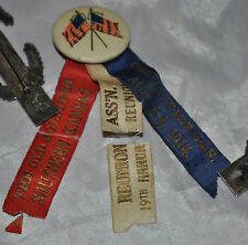 1914 19th Annual Old Soldiers' Reunion Ass Cherryvale Kansas Badge Aug 3 - 8