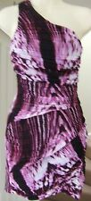 NEW LIPSY PINK STROBE ONE SHOULDERED DRESS Size 6