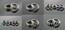 Wholesale lot 100pcs stainless steel mix 6 color Fashion Ring Jewelry Lots