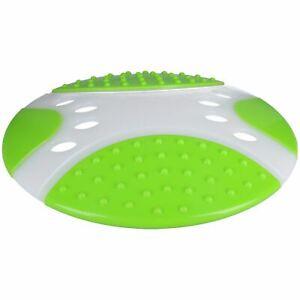 """Dental Throw & Go Fetch Flyer Saucer Fling Frisbee Dog Puppy Toy 23"""""""