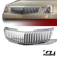 For 2006-2011 Cadillac Dts Chrome Vertical Front Bumper Grill Grille Guard ABS