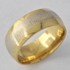 Mystic Womens Mens 9k Gold Plated Silver plating Graduation Band Ring Size 9