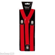 Adult Braces Mens Ladies Unisex Fancy Dress Trouser Suspenders Clip On Clown Fun