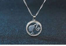 Silver Austria Crystal Soul Mate Heart Pendant Necklace w Chain Gift Box S5