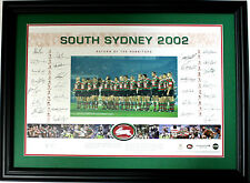 New 2002 South Sydney Rabbitohs Squad Hand Signed Limited Edition Memorabilia