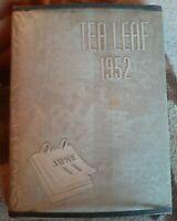 Vintage Tea Leaf East Rutherford New Jersey High School 1952 Yearbook