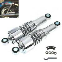 """2x Motorcycle Shock Absorber 10.5"""" Universal Fit Harley Iron 883 Sportster 1200"""