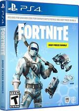 Fortnite Deep Freeze Bundle -PlayStation 4 -AUTHENTIC 100%