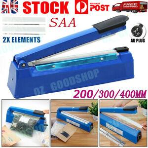 200/300/400mm Electric Impulse Heat Sealer Sealing Machine Plastic Poly Bag
