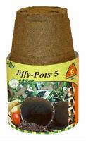 "Jiffy JP508 Round Peat Pot, 5"", 6-Pack"