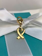 Tiffany & Co. Paloma Picasso 750 18k Gold Loving Heart Charm with Clasp Vintage