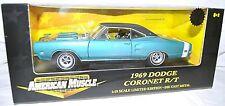 ERTL 1/18 1969 Dodge Coronet R/T TURQUOISE #32835 American Muscle hemi super bee