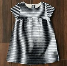 Zara Baby Girl Collection Navy Blue & White Striped Dress Size 3/4