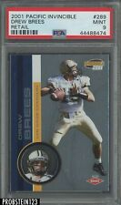 2001 Pacific Invincible Retail #289 Drew Brees RC Rookie PSA 9 ONLY 4 HIGHER