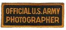 US ARMY PHOTOGRAPHER PATCH WWII (REPRODUCTION)