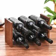 New Bottle Holder Solid Wood Double Layer Red Wine Rack Wrought Iron Decoration