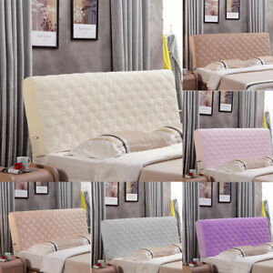 Quilted Dustproof Stretchable Bed Headboard Slipcover Protector Cover King