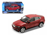2011-2012 BMW X6 Red 1:24 Diecast Model - Welly 24004RD*