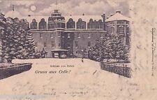 Gruss aus Celle AK 1899 Schloss von Osten Mondschein Litho Niedersachsen 1605163