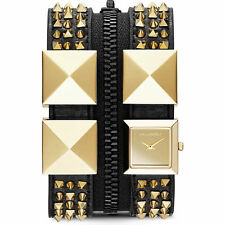 KARL LAGERFELD KL2014 DOUBLE STRAP CUFF GOLD WATCH