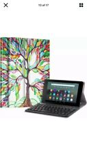 Case For Amazon Fire 7 9th Generation 2019 Tablet Cover with Detachable Keyboard