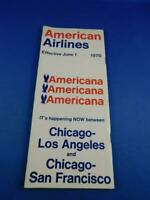 AMERICAN AIRLINES TIMETABLE JUNE 1970 CHICAGO LOS ANGELES SAN FRANCISCO VINTAGE