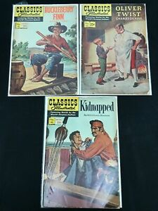 CLASSICS ILLUSTRATED #19, 23, 46 3PC LOT (VG+) COMING OF AGE TALES!! 1967-68