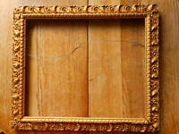 Ornate Antique Picture Frame Baroque Gold Gesso ? Gilt Fine art fits apx 17x14""