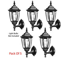6-Sided Outdoor Wall Lantern With Clear Glass Panel  - Pack Of 5