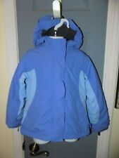 Lands' End Squall Winter Jacket With Hood Periwinkle Size S (4) Girl's Euc