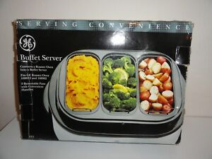 BUFFET SERVER BY GE-CONVERTS A ROASTER OVER INTO A BUFFET SERVER-NEW IN BOX