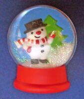 Hallmark PIN Christmas Vintage SNOWMAN SNOW Water GLOBE Snowdome Holiday Brooch