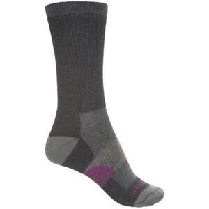 Merrell Women's 185191 Hiker Crew Sock (Black) Crew Cut Socks Shoes Size S/M