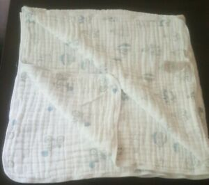 Aden And Anais Dream Blanket blue Air Balloon bicycle ELEPHANT lovey New no tags