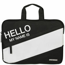 "Sprayground Hello My Name Is Black White 15"" Laptop Carrying Case Bag NEW"