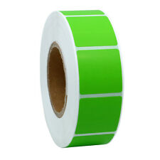 Green Color Coding Dot Labels 25mm Square Natural Paper Stickers Adhesive Label
