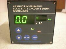 Hastings Instruments Model Vi2000 Solid State Vacuum Sensor Powers Up As Shown
