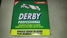 1000 Blades (10 boxes) Derby Extra Platinum Single Edge Razor Blades