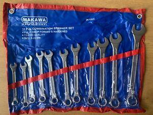 Makawa 11 Piece Metric Combination Spanner Set Big Sizes 8-22MM