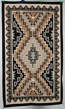 "Old Navajo rug, blanket Native American textile, weaving Two Grey Hills 48""X84"""